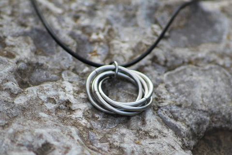 Infinity mbii ring pendant stainless steel mbius rings necklace infinity ring pendant stainless steel mbius rings necklace forever spiral fidget necklace aloadofball Choice Image