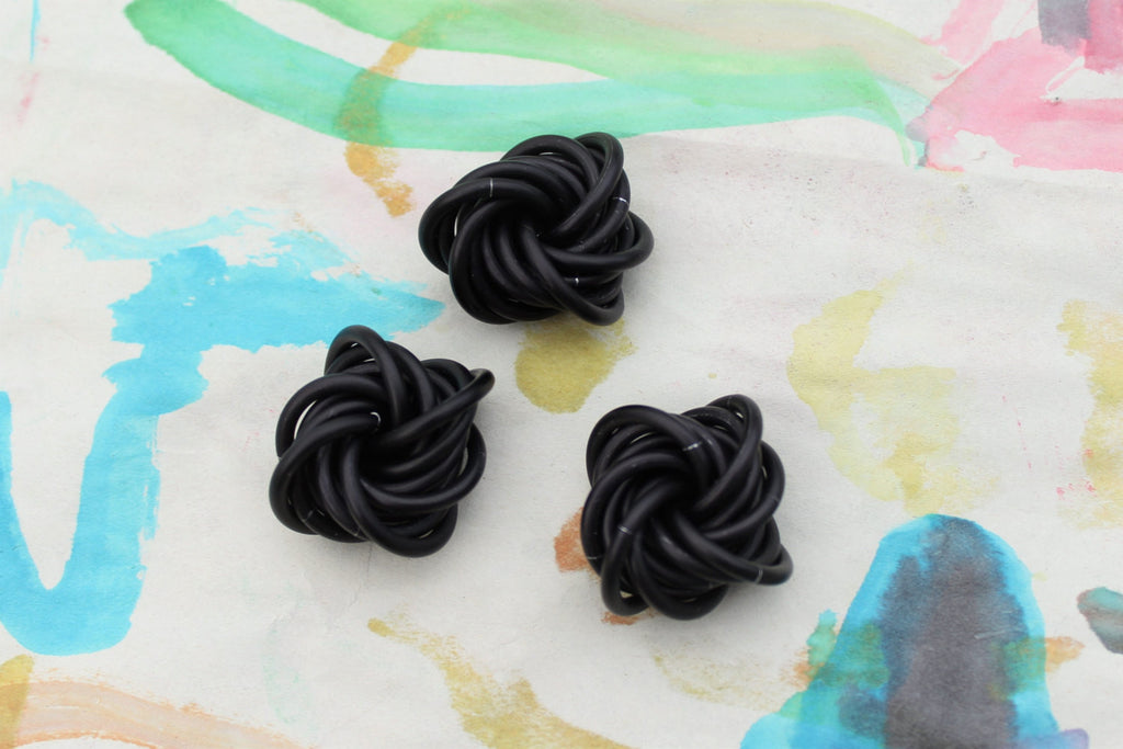 3 Pack: Black Fidget Stim Toy for Restless Hands, Tactical Matte Black, Small -  - 1