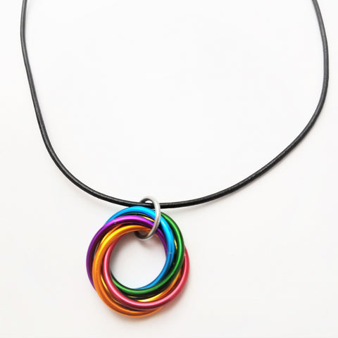 Infinity rainbow ring pendant mbii rainbow fidget necklace infinity rainbow ring pendant mbii rainbow fidget necklace mbius rings necklace forever aloadofball Choice Image