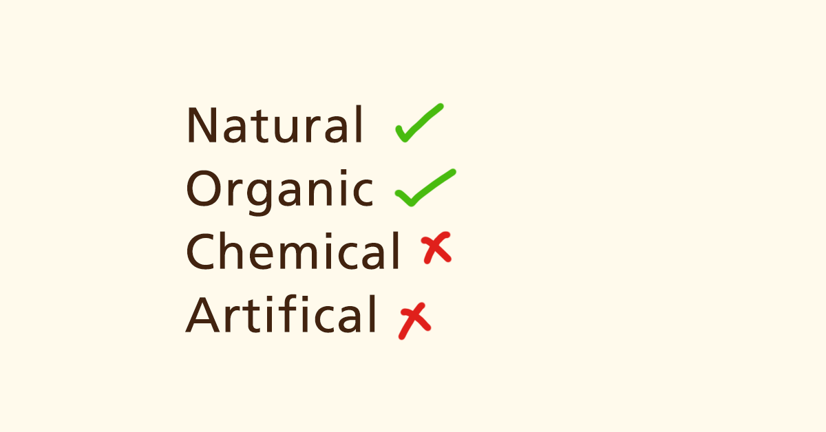 Organic and Natural Make up Products Only