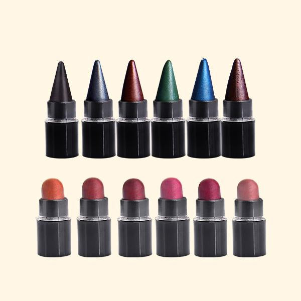 6 Lipsticks + 6 Kajal Miniatures