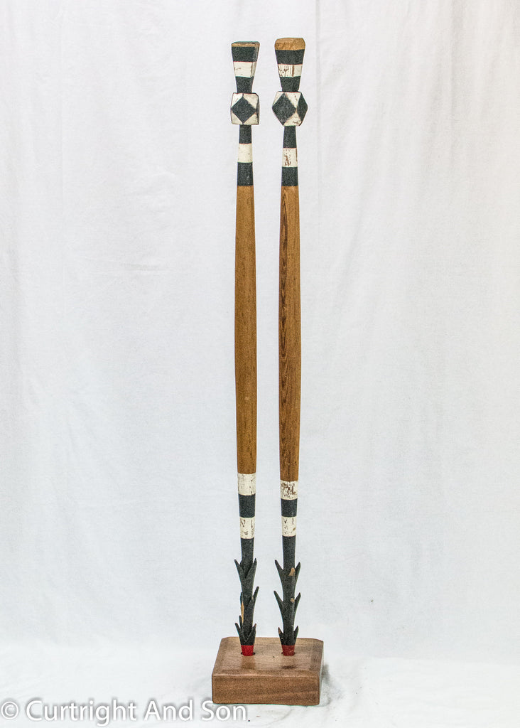 NORTHERN PUGET SOUND ARROW DANCE STAFFS POSSIBLY LUMMI