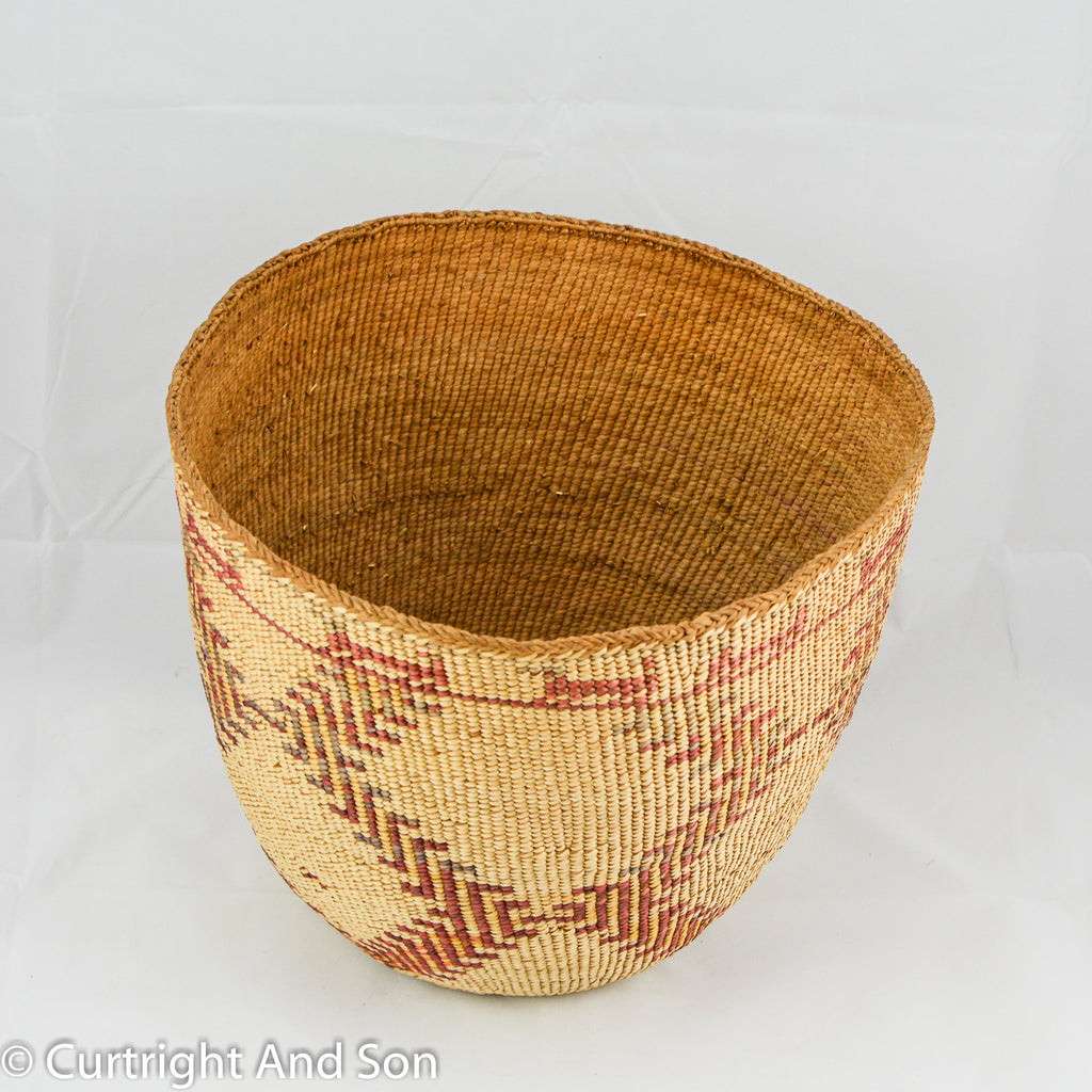 SKOKOMISH-LOWER QUINAULT STORAGE BASKET CA 1900
