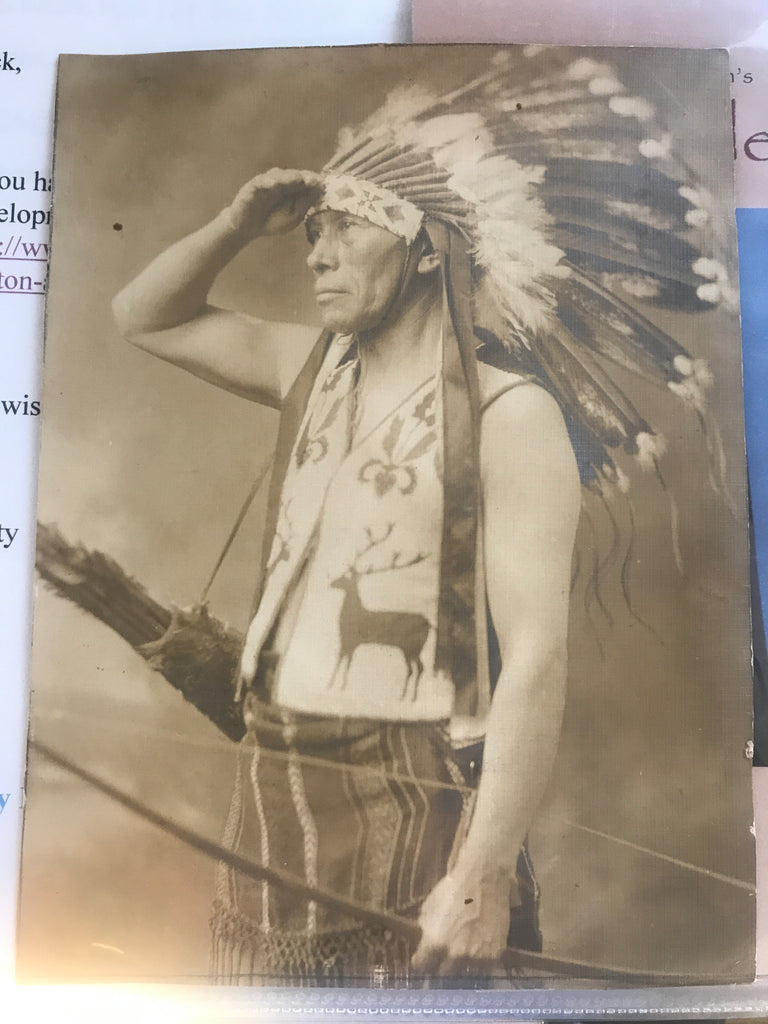 CHIEF WILLIAM SHELTON OROTONE PHOTOGRAPH 1868-1938