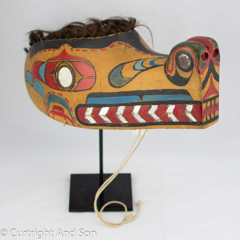 "NUU CHAH NULTH ""SEA WOLF"" HEADRESS EARLY 20TH CENTURY"