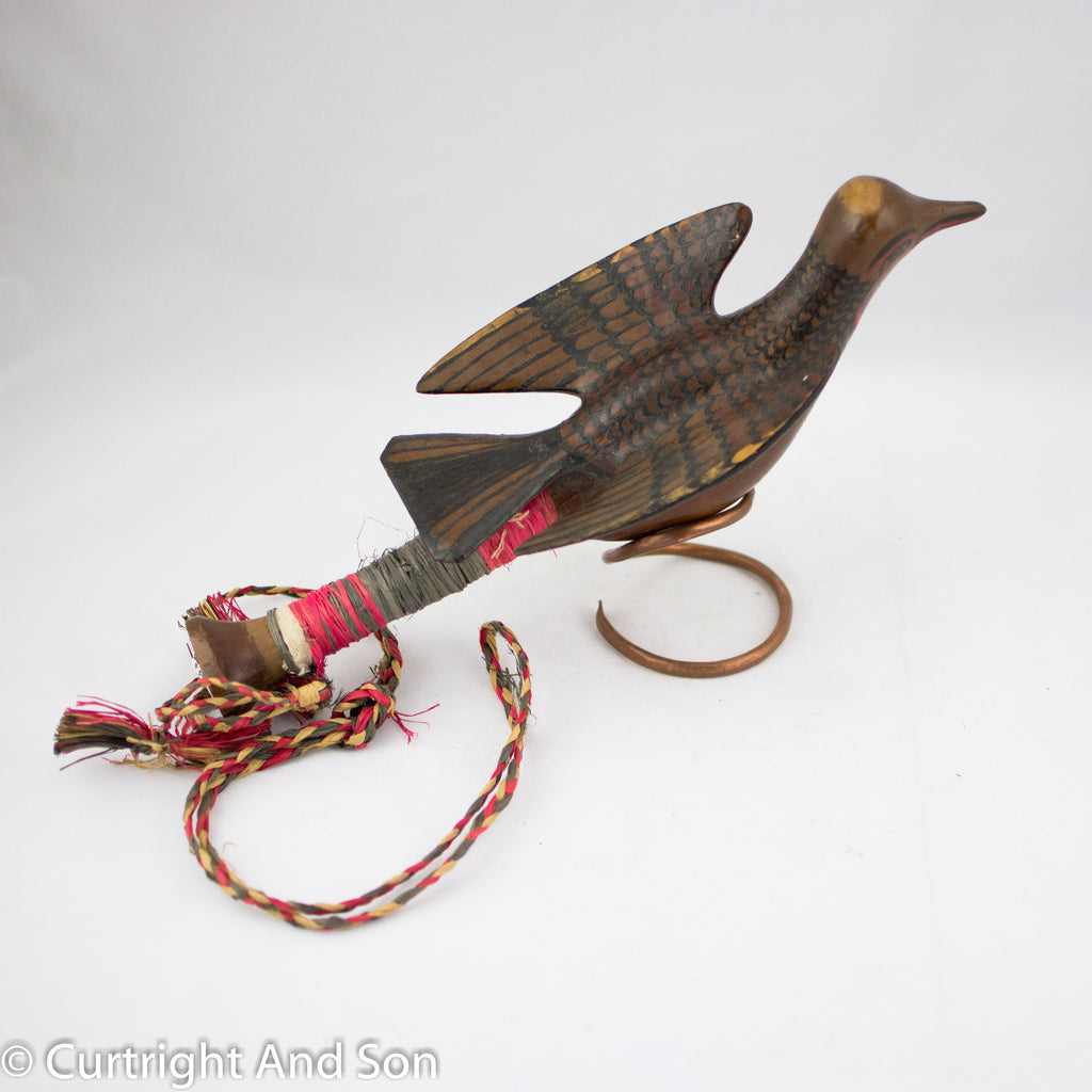 MAKAH SHOREBIRD RATTLE CA 1920-30