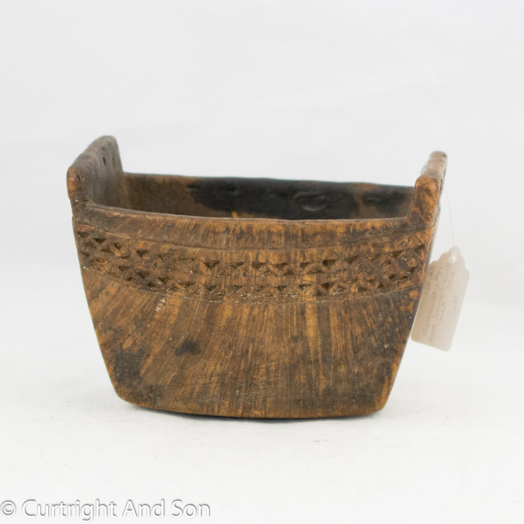 QUINAULT BURL FOOD BOWL CA 1870