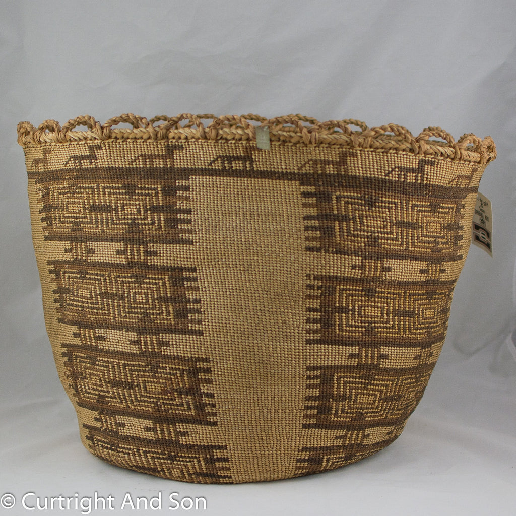 "SKOKOMISH ""TWANA"" STORAGE BASKET CA 19TH CENTURY"