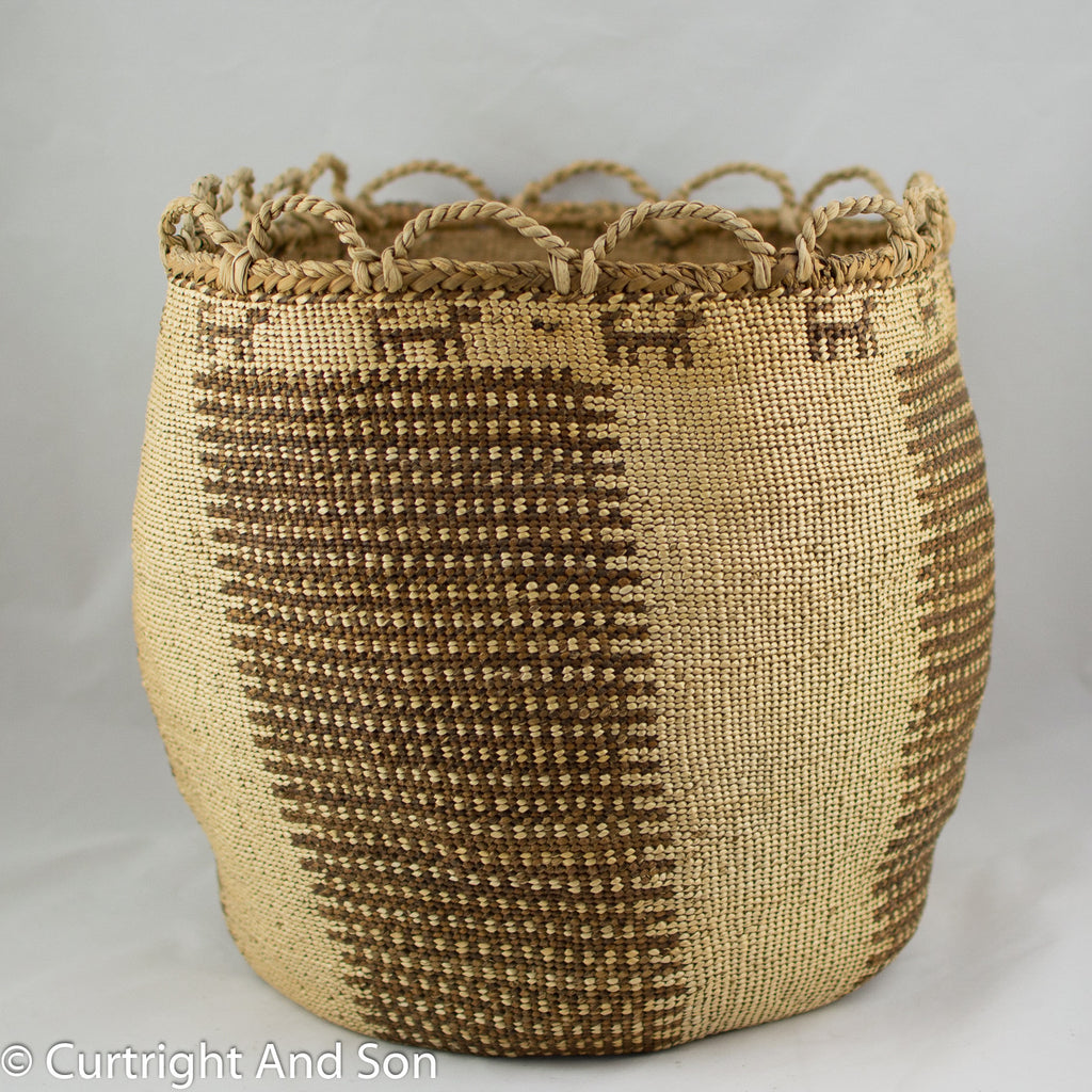 "SKOKOMISH ""TWANA"", SOFT TWINED STORAGE BASKET"