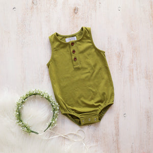Riley Romper - Sage