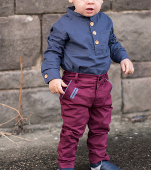 Xavier Pants in Burgundy