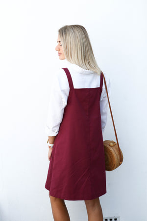 Trixie Pinny in Burgundy - Ladies