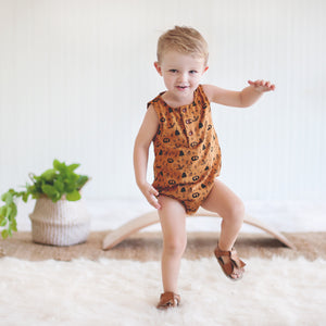 Riley Romper - Rust