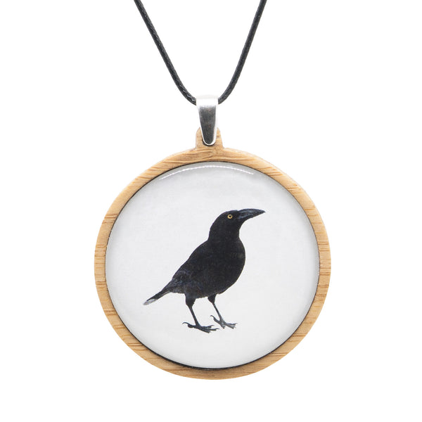 Black Currawong - Pendant (Large) - Myrtle & Me