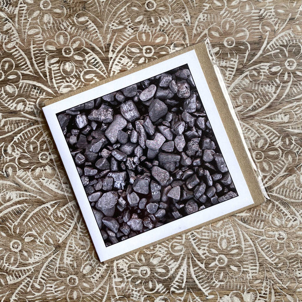 Coal On The Beach - Greeting Card