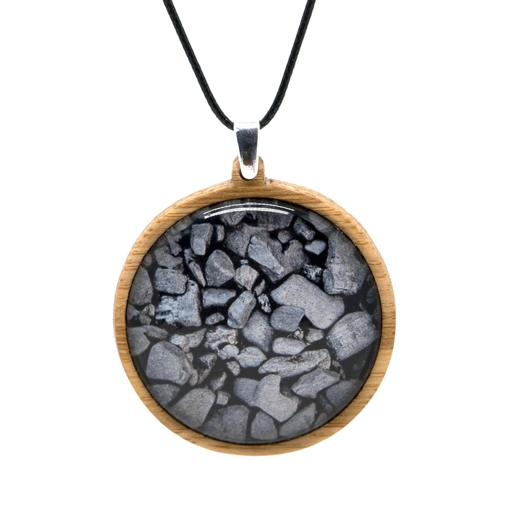 Coal On The Beach Bamboo Pendant Myrtle & Me Tasmanian Made Jewellery
