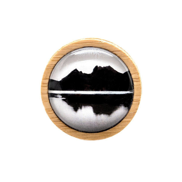 Cradle Mountain - Brooch Handmade Bamboo Wooden Jewellery Myrtle & Me Tasmanian Design Eco Friendly Nature Gift