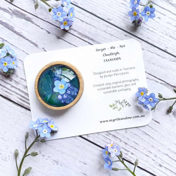 Forget Me Not - Brooch