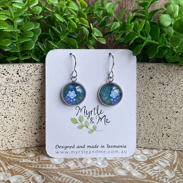 Forget Me Not - Drop Earrings-Earrings-Myrtle & Me