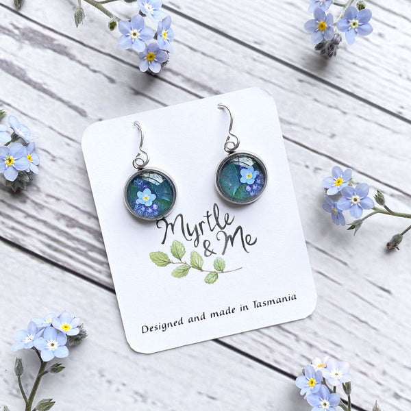 Forget Me Not - Drop Earrings