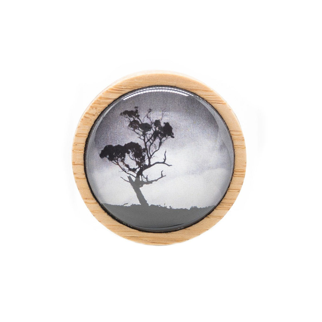 Gum Tree - Brooch Handmade Bamboo Wooden Jewellery Myrtle & Me Tasmanian Design Eco Friendly Nature Gift
