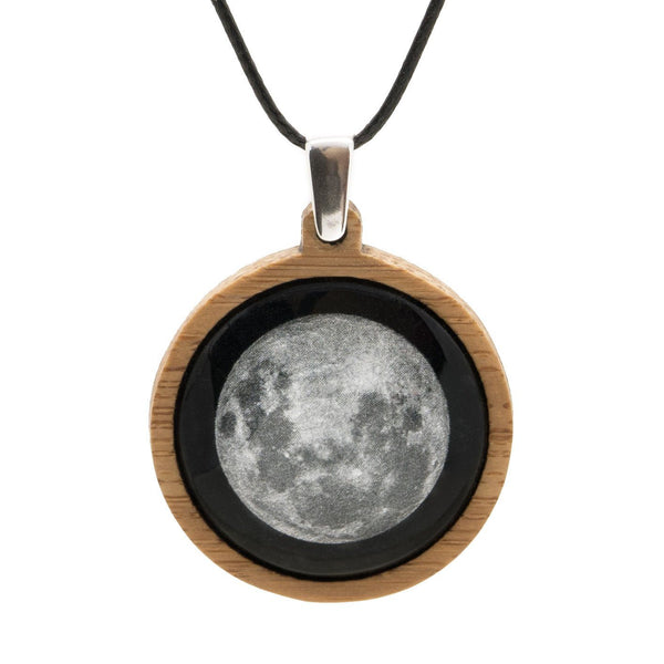 Supermoon Pendant Myrtle & Me Tasmanian Jewellery Handmade From Eco Friendly Bamboo