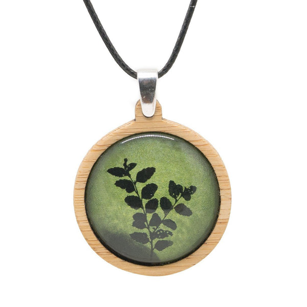 Myrtle Leaves - Pendant (Medium)-Pendant-Myrtle & Me