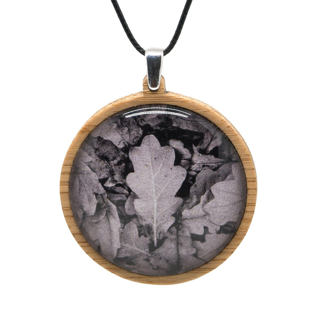 Oak Leaves - Pendant (Large) Bamboo Wooden Nature Jewellery Handmade in Tasmania Australia Myrtle & Me Eco Friendly Gift