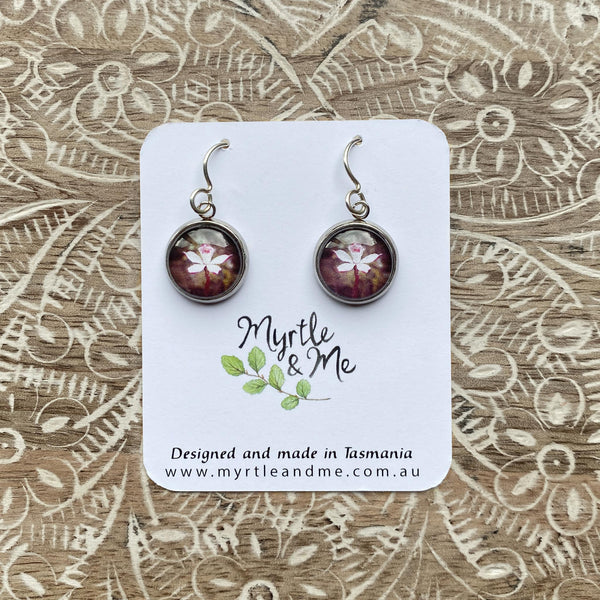 Alpine Finger Orchid Drop Earrings Eco Friendly Jewellery Handmade In Australia Myrtle & Me