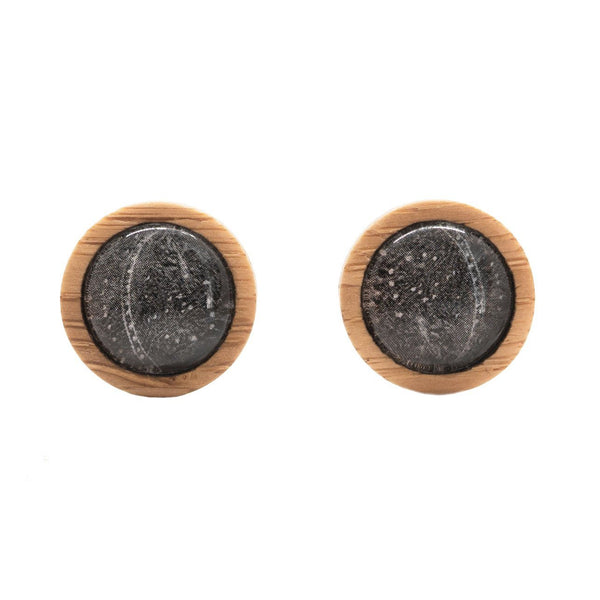 Patterns In The Ice Stud Earrings Myrtle & Me Tasmanian Nature Jewellery Eco Friendly Bamboo