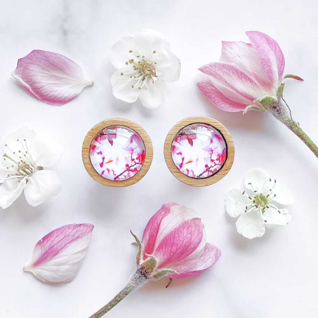 Pink Blossom - Stud Earrings