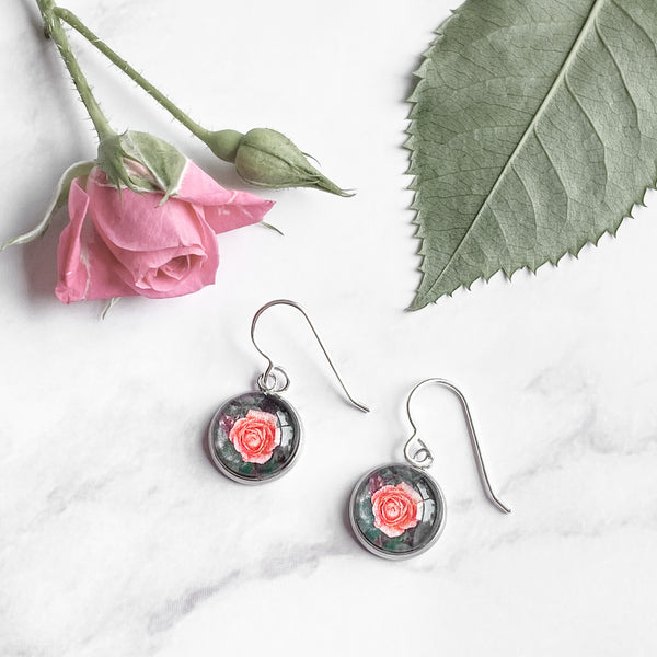 Rose - Drop Earrings