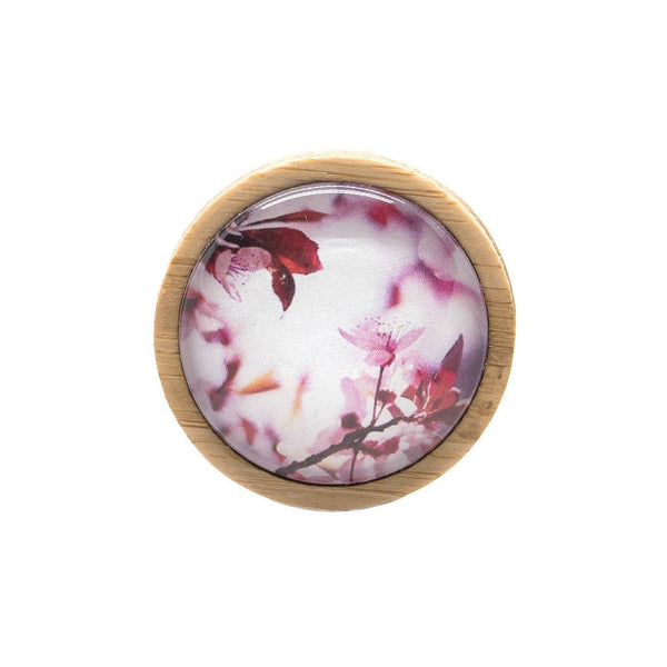 Pink Blossom - Brooch Handmade Bamboo Wooden Jewellery Myrtle & Me Tasmanian Design Eco Friendly Nature Gift
