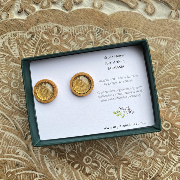 Stone Flower - Stud Earrings