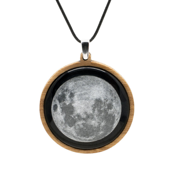 Supermoon Pendant Myrtle & Me Tasmanian Made Jewellery Bamboo Necklace