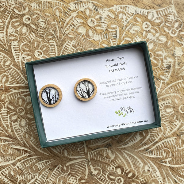 Winter Trees - Stud Earrings