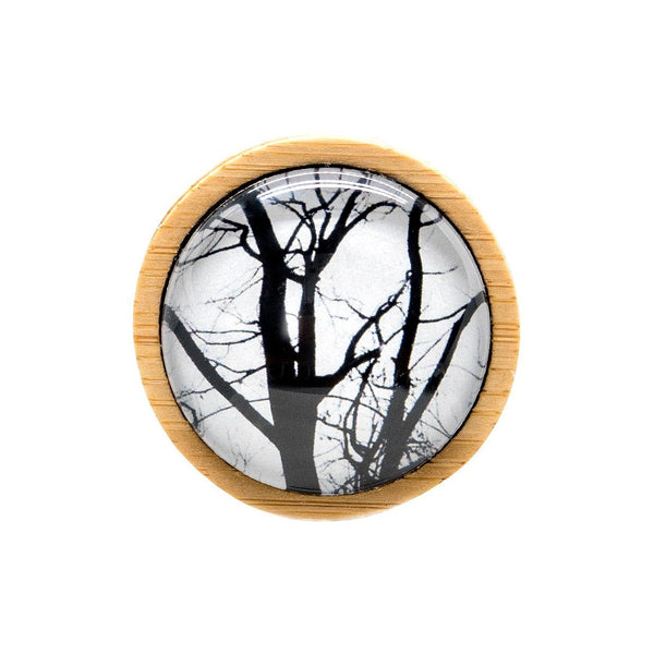 Winter Trees - Brooch Handmade Bamboo Wooden Jewellery Myrtle & Me Tasmanian Design Eco Friendly Nature Gift