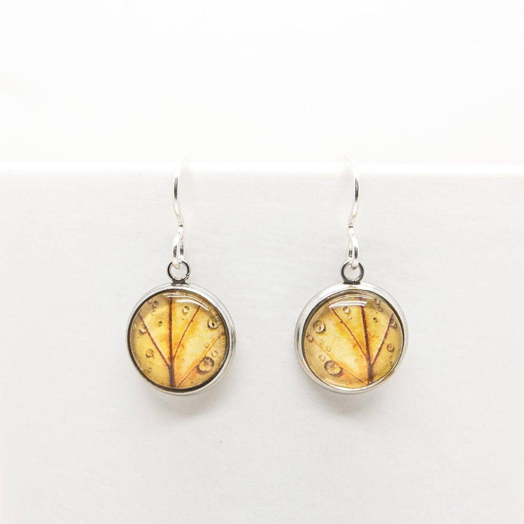 Autumn Leaf - Drop Earrings - Myrtle & Me