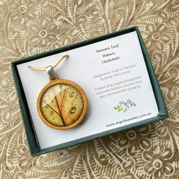 Autumn Leaf - Pendant (Medium)-Pendant-Myrtle & Me