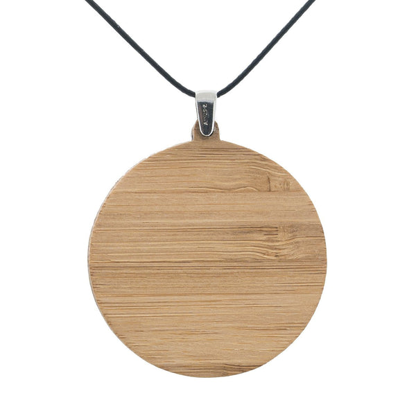 Black Currawong - Pendant (Large) Bamboo Wooden Nature Jewellery Handmade in Tasmania Australia Myrtle & Me Eco Friendly Gift