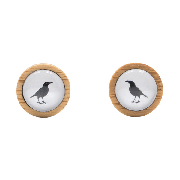 Black Currawong - Stud Earrings - Myrtle & Me