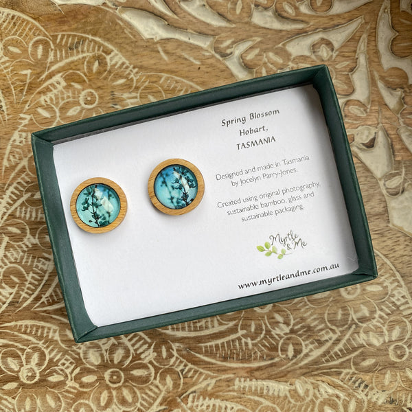 Blue Blossom - Stud Earrings-Earrings-Myrtle & Me