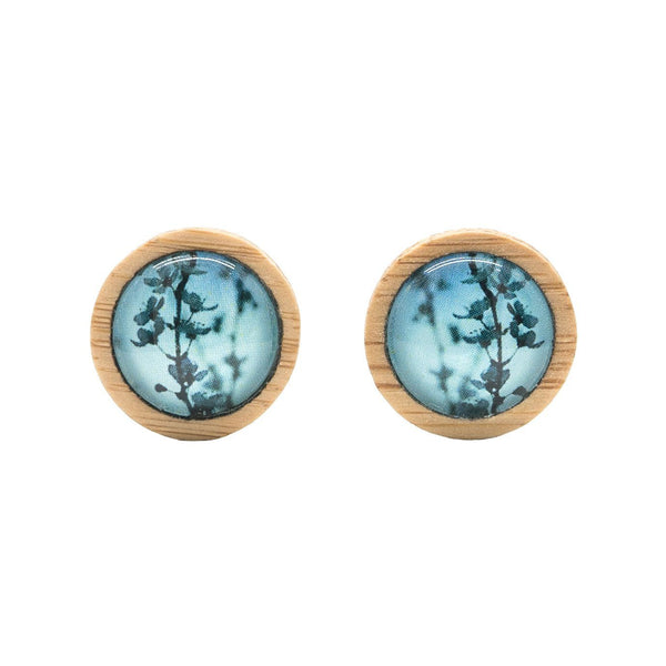 Blue Blossom - Stud Earrings