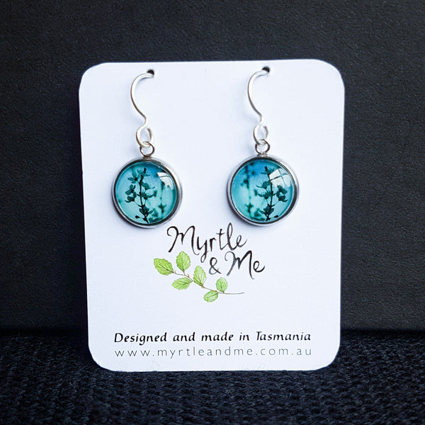 Blue Blossom - Drop Earrings-Earrings-Myrtle & Me