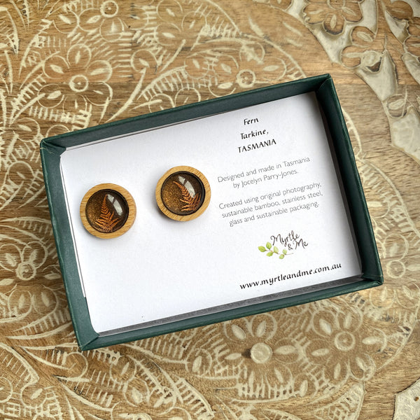 Fern - Stud Earrings-Earrings-Myrtle & Me