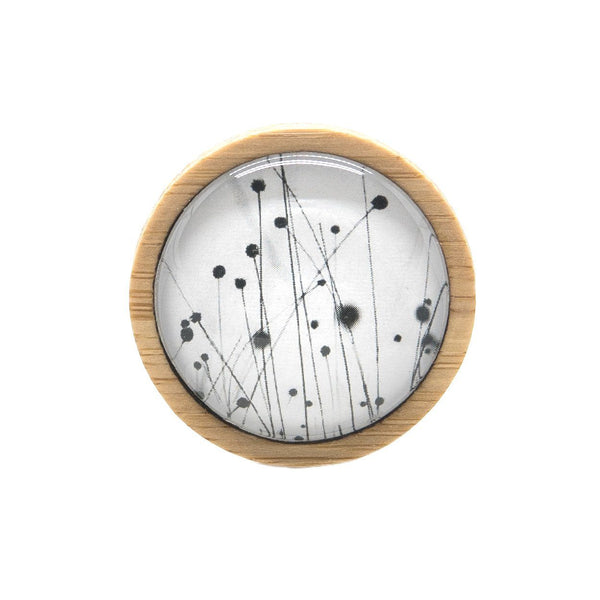 Buttongrass - Brooch Handmade Bamboo Wooden Jewellery Myrtle & Me Tasmanian Design Eco Friendly Nature Gift