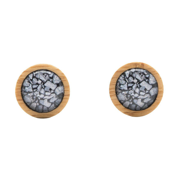 Coal On The Beach - Stud Earrings