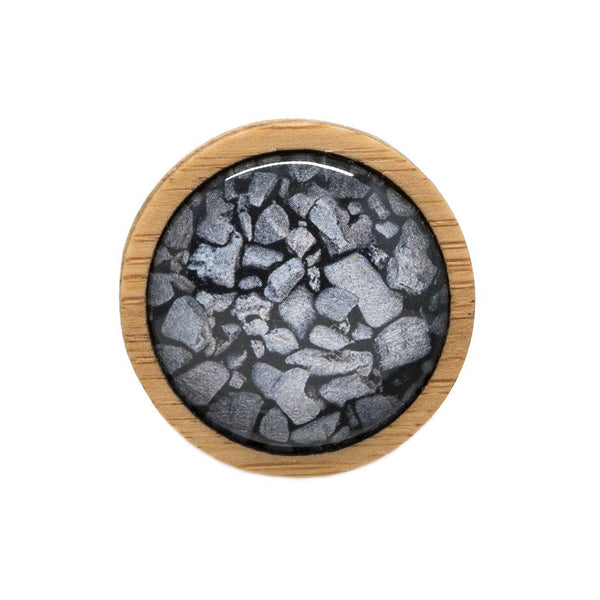 Coal On The Beach - Brooch