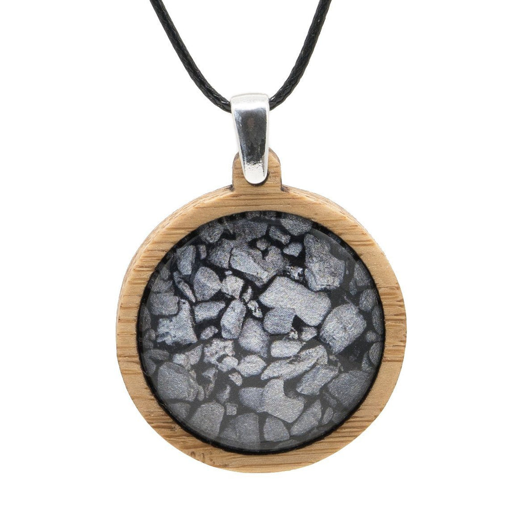 Coal On The Beach - Pendant (Medium)-Pendant-Myrtle & Me