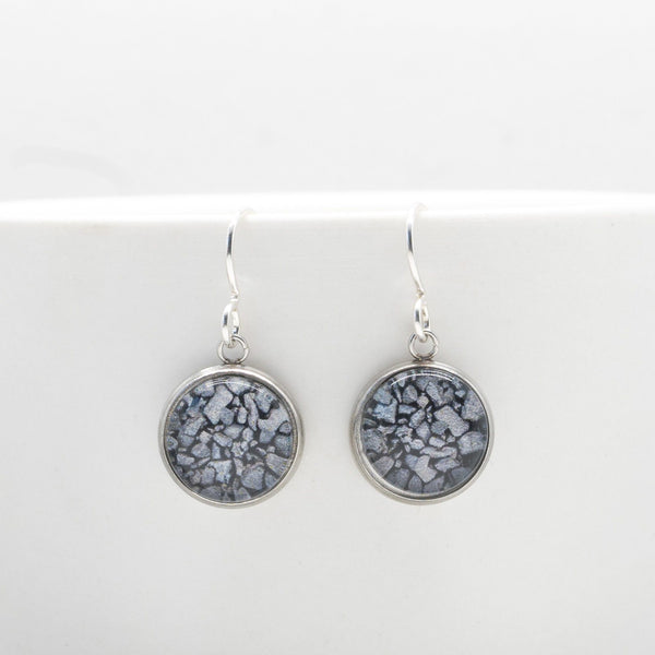 Coal On The Beach - Drop Earrings